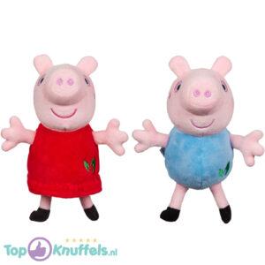 Peppa Pig Pluche Knuffel Set 17 cm (Milieuvriendelijke knuffels)