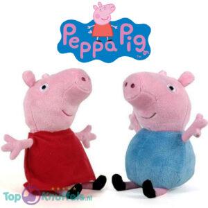 Peppa Pig Pluche Knuffel Set van 2 (Peppa + George) 30 cm