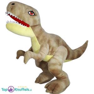 Dinosaurus T-Rex Pluche Knuffel (Lichtbruin) 30 cm