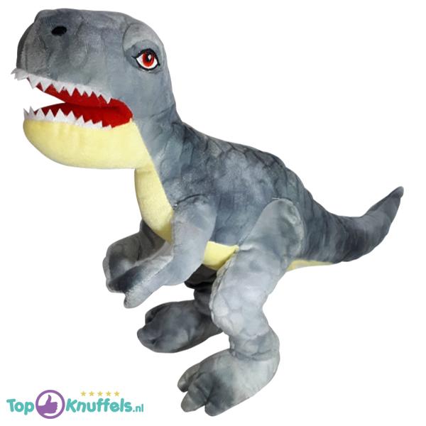 Dinosaurus T-Rex Pluche Knuffel (Grijs) 30 cm