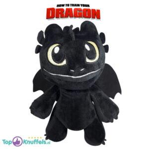 Hoe tem je een draak Pluche Knuffel Baby Toothless (Zwart) 23 cm