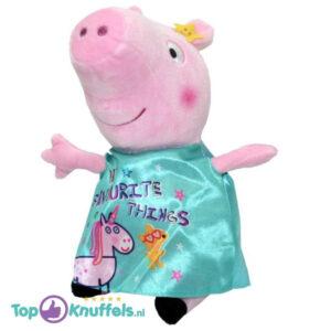 Peppa Pig Fluweel Lichtblauw Pluche Knuffel 30 cm