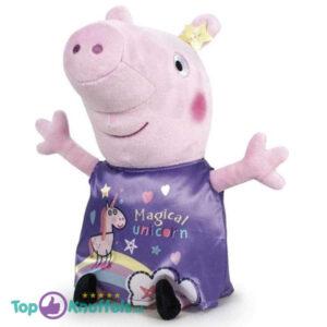 Peppa Pig Fluweel Paars Pluche Knuffel 30 cm