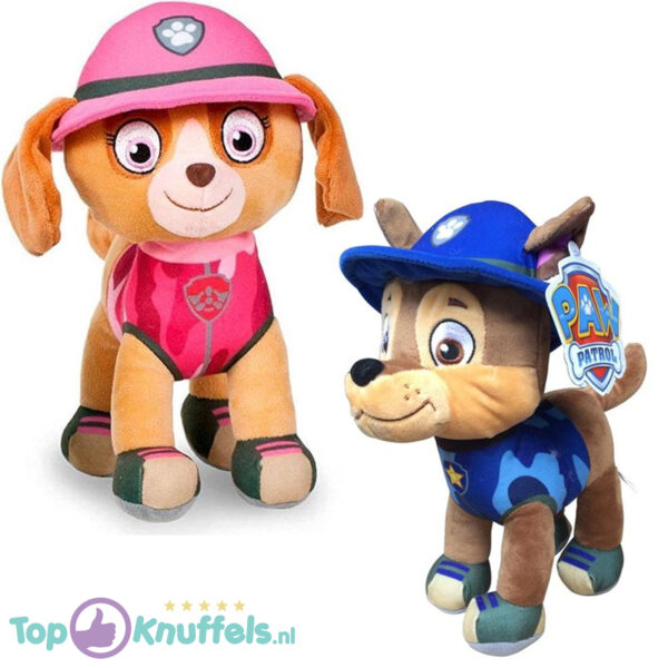 Paw Patrol Jungle Rescue Pluche Knuffel Set Chase + Skye 30 cm