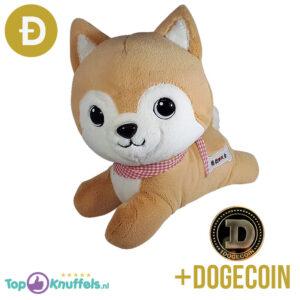 Doge Shiba Pluche Knuffel Hond 25 cm + Dogecoin Munt!