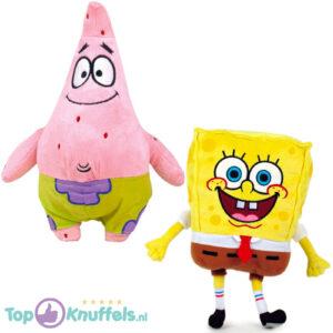Patrick Ster 30cm + SpongeBob SquarePants 18cm Pluche Knuffel Set van 2 stuks!