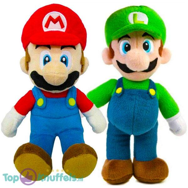 Super Mario Bros Pluche Knuffel Set: Mario + Luigi 28 cm