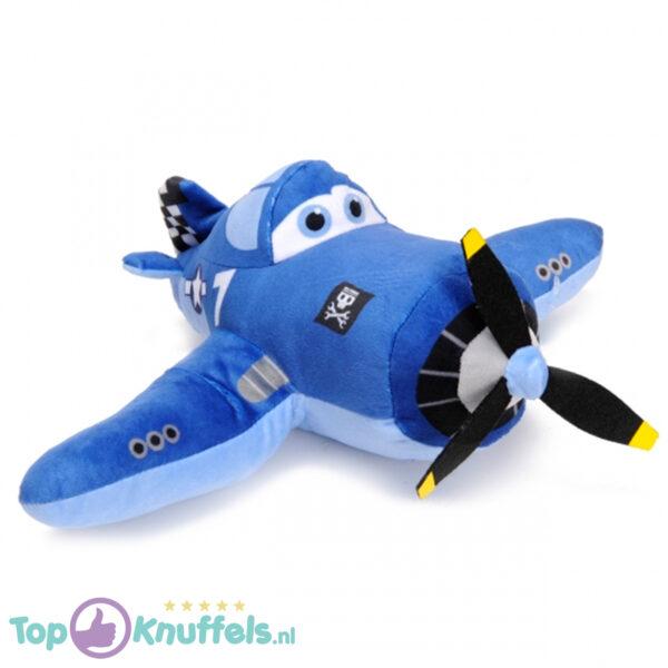 Disney Planes Pluche Knuffel Skipper Riley (Blauw) 30 cm