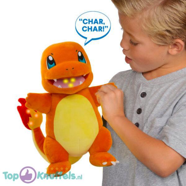 Pokémon Flame Action Charmander Interactieve Pluche Knuffel met Licht en Geluid!