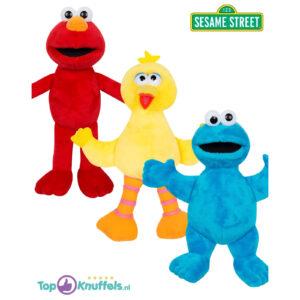 Sesamstraat Pluche Knuffel Set van 3: Elmo + Pino + Cookie Monster 27 cm