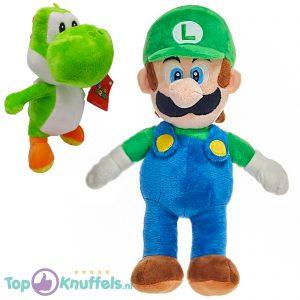 Super Mario Bros Pluche Knuffel Set: Luigi 30 cm + Yoshi 22 cm