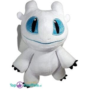 Hoe tem je een draak Pluche Knuffel Baby Light Fury (Wit) 23 cm