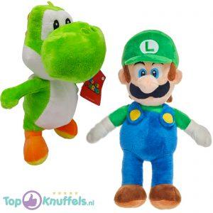 Super Mario Bros Pluche Knuffel Set: Luigi + Yoshi 30 cm