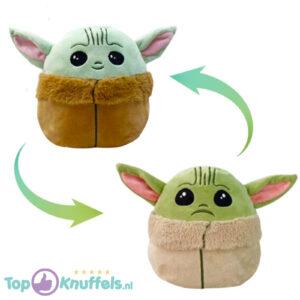 Star Wars The Mandalorian Yoda Mood Pluche Knuffel (Reversible/Omkeerbaar)