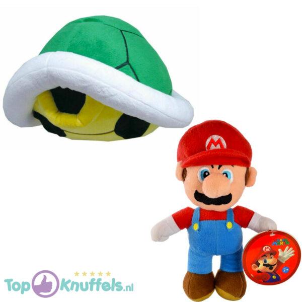 Super Mario Bros Pluche Knuffel Set: Mario + Koopa Schildpad Groen 25 cm