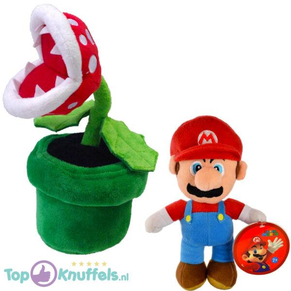 Super Mario Bros Pluche Knuffel Set: Mario + Piranha Plant 30 cm