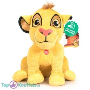 Disney Lion King Pluche Knuffel Met Geluid Simba 30 cm