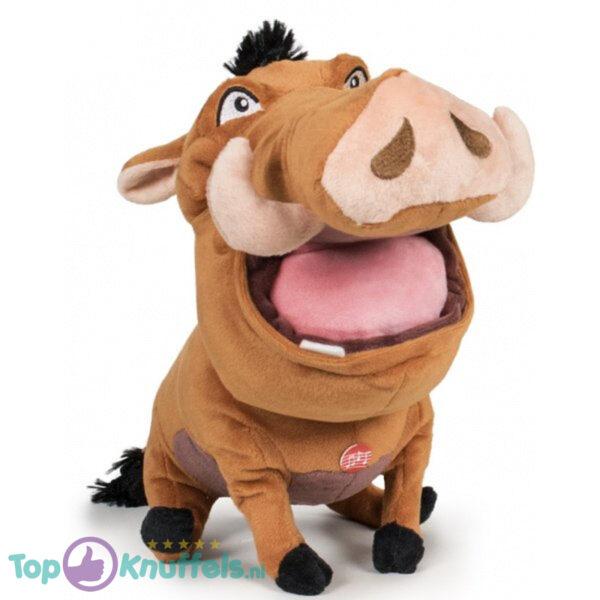 Disney Lion King Pluche Knuffel Met Geluid Pumba 30 cm