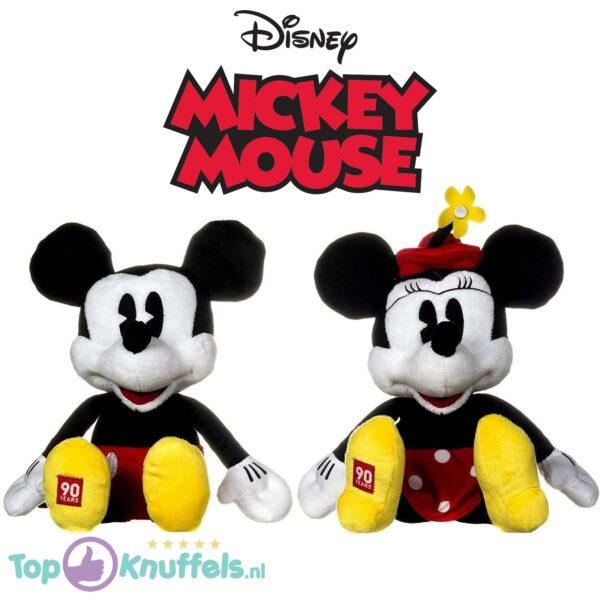 Disney Mickey & Minnie Mouse '90 Years of Magic' Pluche Knuffel Set 35 cm