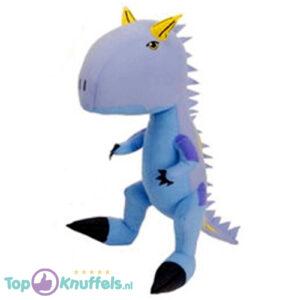 Dino King Pluche Knuffel Ace (Lila) 40 cm