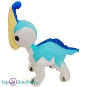 Dino King Pluche Knuffel Paris (Lichtblauw) 40 cm