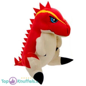 Dino King Pluche Knuffel Terry (Rood) 35 cm