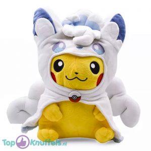 Pokémon Pluche Knuffel Pikachu Alolan Vulpix Cosplay Outfit 34 cm