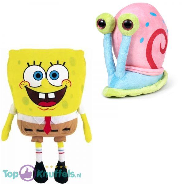Spongebob Squarepants Pluche Knuffel + Gary de Slak Pluche Knuffel 18 cm