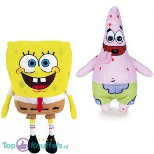 Spongebob Squarepants Pluche Knuffel 18 cm + Patrick Ster Pluche Knuffel 24 cm
