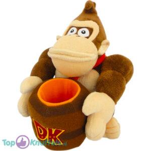 Super Mario Bros - Donkey Kong Barrel Pluche Knuffel 28 cm