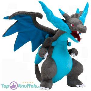 Pokémon Pluche Knuffel Mega Charizard (Blauw/Grijs) 25 cm