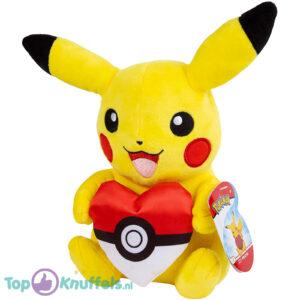 Pokémon Valentijnsdag Limited Edition - Pikachu met Hart Kussen 25 cm