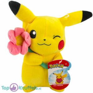 Pokémon Valentijnsdag Limited Edition - Pikachu met Roze Bloem 25 cm