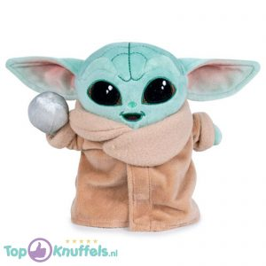 Baby Yoda Child met Bal Pluche Knuffel Star Wars The Mandalorian 17 cm