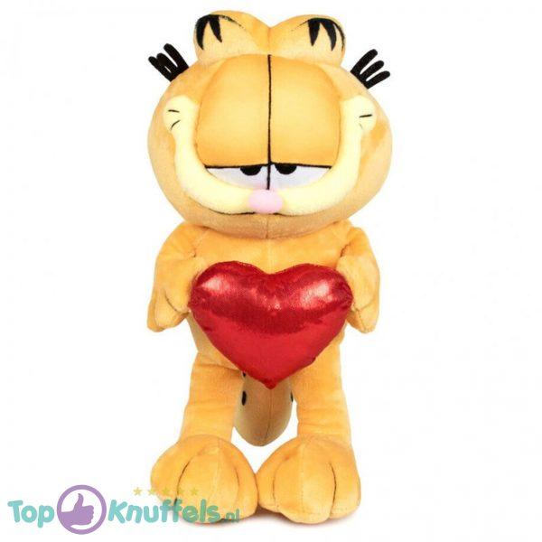 Garfield Kat met Hart Pluche Knuffel 25 cm