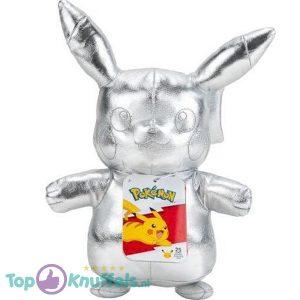 Pikachu Zilver Pokémon 25th Anniversary Pluche Knuffel 24 cm