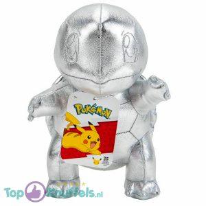 Squirtle Zilver Pokémon 25th Anniversary Pluche Knuffel 24 cm