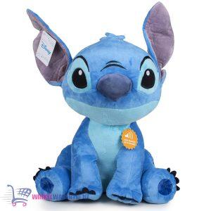 Disney Lilo & Stitch Pluche Knuffel (Blauw) + Geluid XL 75 cm