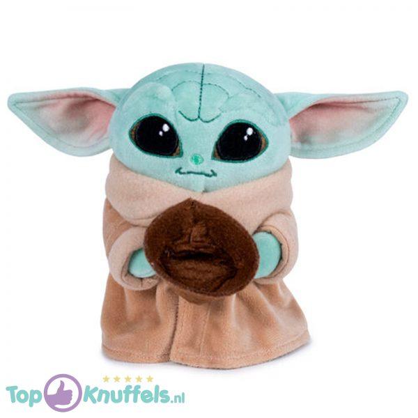 Baby Yoda Child met Bakje Pluche Knuffel Star Wars The Mandalorian 17 cm