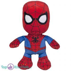 Spiderman Beanie Pluche Knuffel (Rood/Blauw) 31 cm