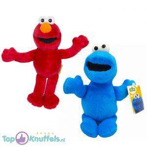 Cookie Monster + Elmo Sesamstraat Pluche Knuffel Set 20 cm