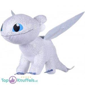 Light Fury Wit - Hoe tem je een Draak / How to train your Dragon Pluche Knuffel 26 cm
