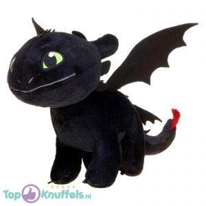 Toothless Zwart - Hoe tem je een Draak / How to train your Dragon Pluche Knuffel 26 cm